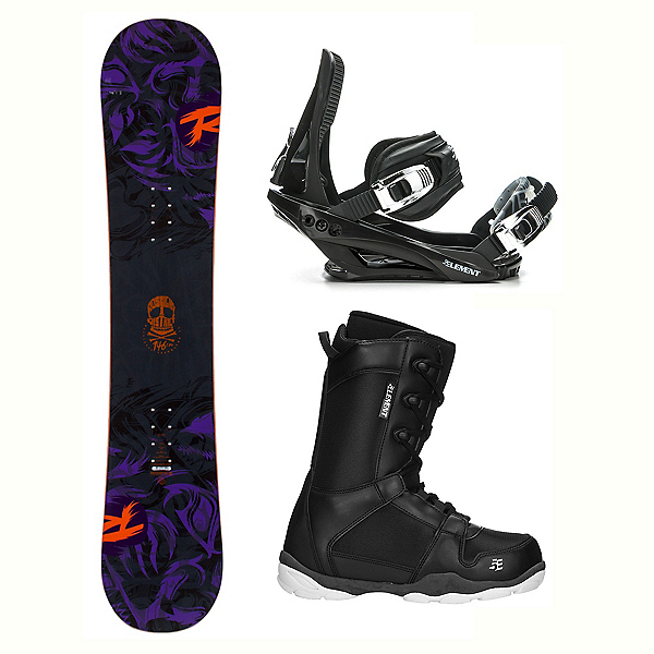 16055982cf6 Rossignol District AmpTek LTD ST-1 Complete Snowboard Package 2018