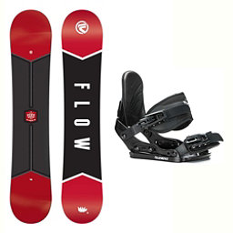Flow Micron Verve Stealth Kids Snowboard and Binding Package 2018, , 256