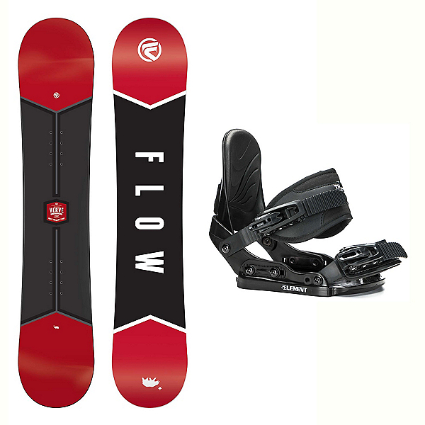 Flow Micron Verve Stealth Kids Snowboard and Binding Package, , 600