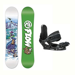 Flow Micron Mini Stealth Kids Snowboard and Binding Package 2018, , 256