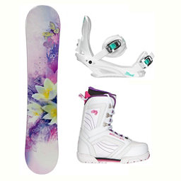 Black Fire Special Lady Purple Cosmo Womens Complete Snowboard Package 2018, , 256