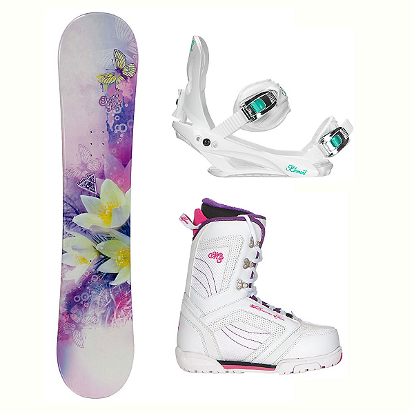 Black Fire Special Lady Purple Cosmo Womens Complete Snowboard Package, , 600