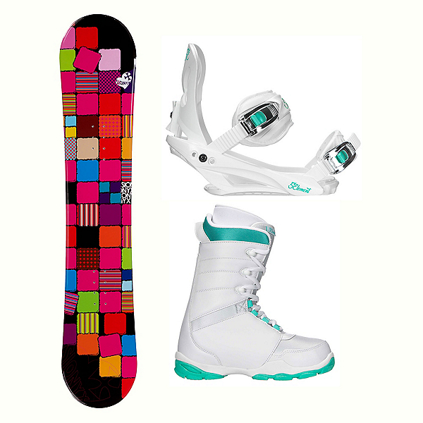 Sionyx Quilt Black L-1 Womens Complete Snowboard Package, , 600