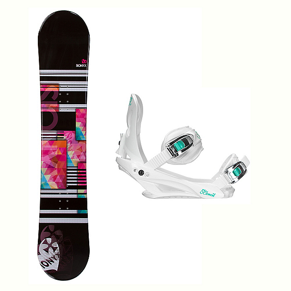 Sionyx Independent White Layla Womens Snowboard and Binding Package 2018, , 600