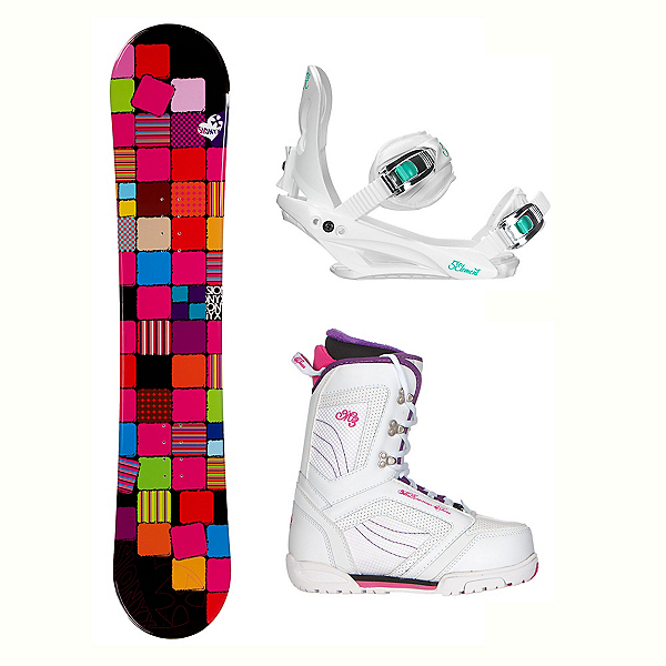 Sionyx Quilt Black Cosmo Two Womens Complete Snowboard Package, , 600