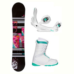 Sionyx Independent White L-1 Womens Complete Snowboard Package 2018, , 256