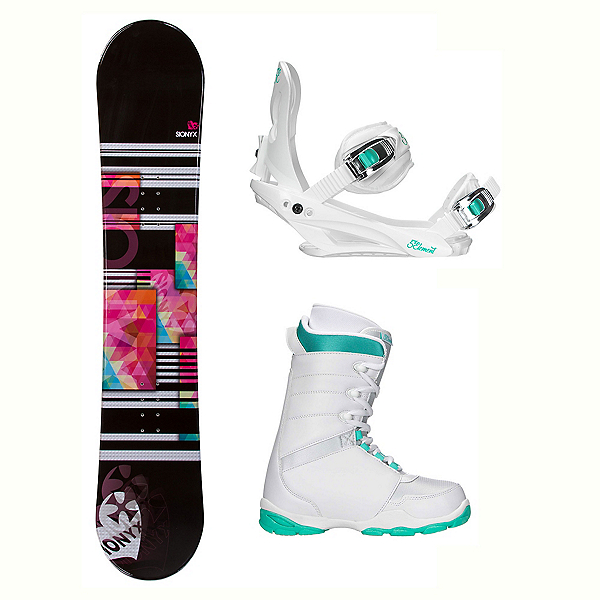 Sionyx Independent White L-1 Womens Complete Snowboard Package 2018, , 600