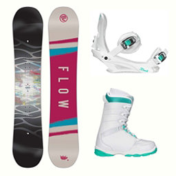 Flow Silhouette L-1 Two Womens Complete Snowboard Package 2018, , 256