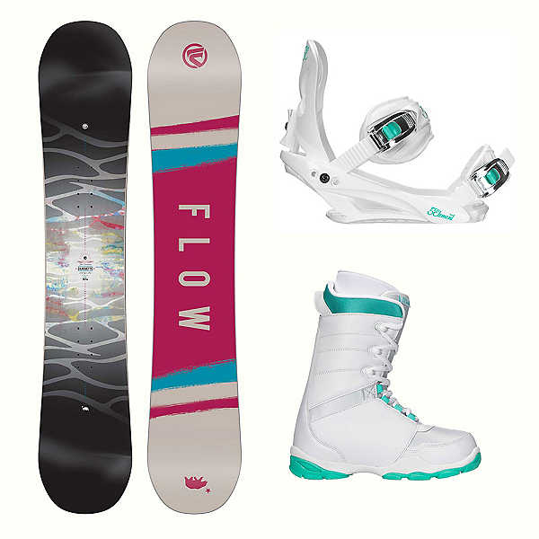 Flow Silhouette L-1 Two Womens Complete Snowboard Package, , 600
