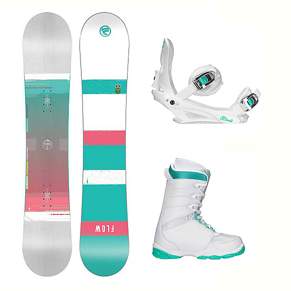 Flow Venus L-1 Two Womens Complete Snowboard Package, , 600