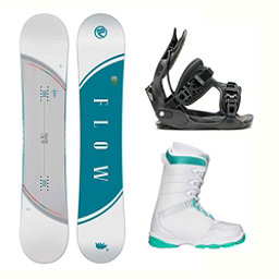 Flow Velvet L-1 Womens Complete Snowboard Package 2018, , 256