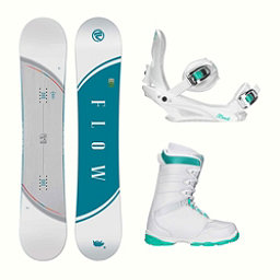 Flow Velvet L-1 Two Womens Complete Snowboard Package 2018, , 256