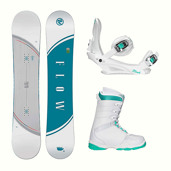 Flow Velvet L-1 Two Womens Complete Snowboard Package, , 600