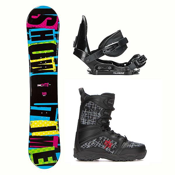 2B1 Showtime Blue Militia Kids Complete Snowboard Package 2018, , 600