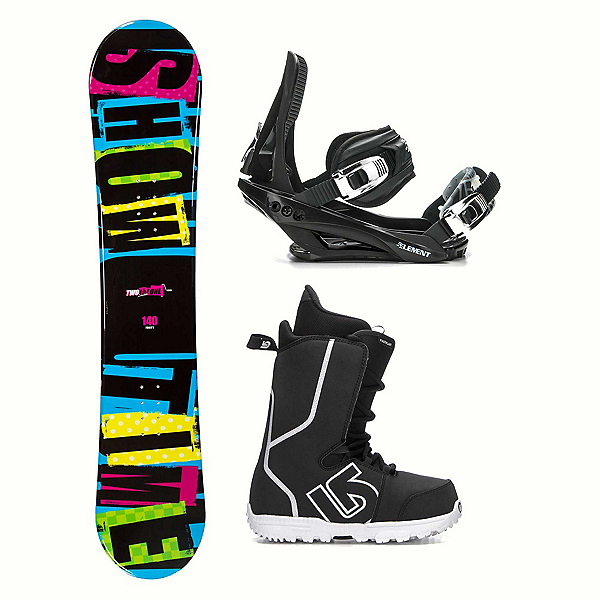 2B1 Showtime Blue Fastplant Kids Complete Snowboard Package, , 600