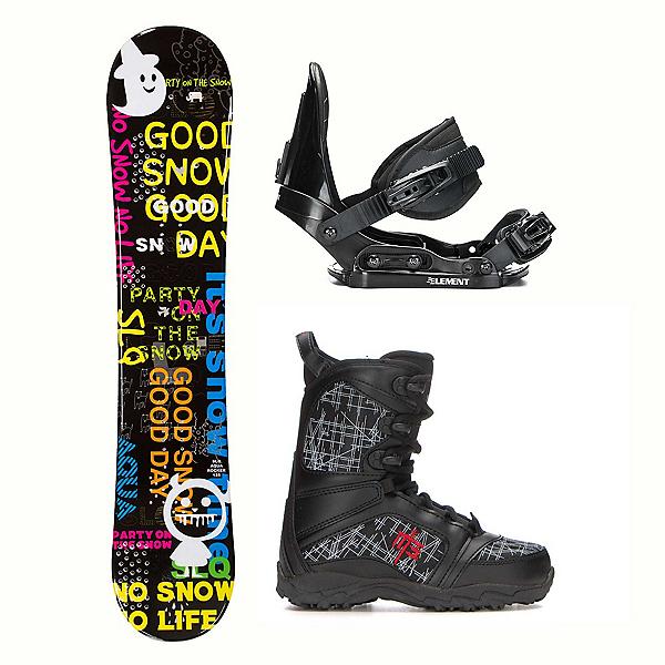 SLQ Aqua Militia Kids Complete Snowboard Package, , 600