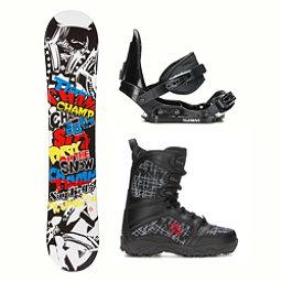 SLQ Champ Militia Kids Complete Snowboard Package, , 256