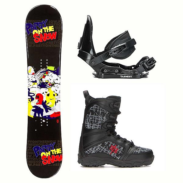 SLQ Flip Flat Militia Kids Complete Snowboard Package 2018, , 600