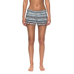 Roxy Endless Summer Printed Womens Board Shorts, Marshmallow Alexa Stripe, 256