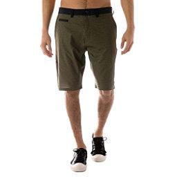 Tentree Wollaston Mens Hybrid Shorts, Olive Night-Phantom, 256