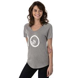Tentree Leaf Ten Tee Womens T-Shirt, Lunar Rock, 256