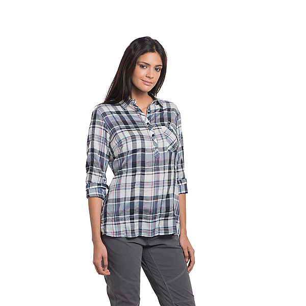 KUHL Spektra Plaid Womens Shirt, Sail Blue, 600