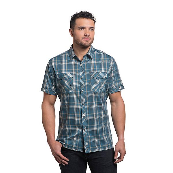 KUHL Konquer Short Sleeve Mens Shirt, Reflective Harbor, 600