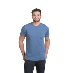 KUHL Stir Mens T-Shirt, Lake Blue, 256