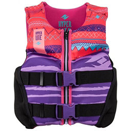 Hyperlite Youth Indy Neo Vest Girls Junior Life Vest 2018, Purple-Coral, 256