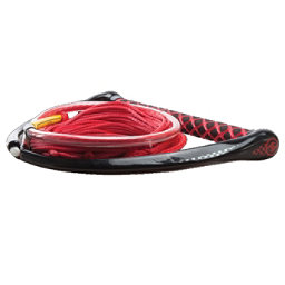 Hyperlite Apex PE EVA Handle with Maxim Wakeboard Rope 2018, Red, 256