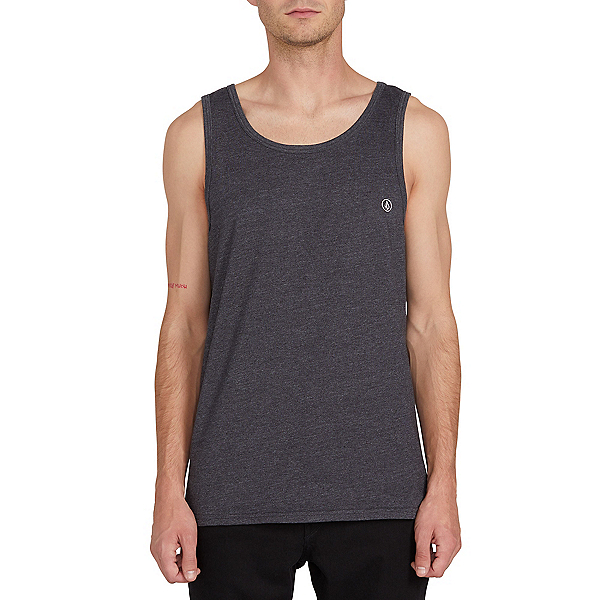 Volcom Solid Heather Tank Top, Heather Black, 600