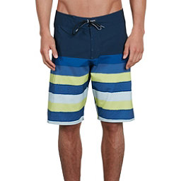 Volcom Lido Liney Mod Mens Board Shorts, Shadow Lime, 256