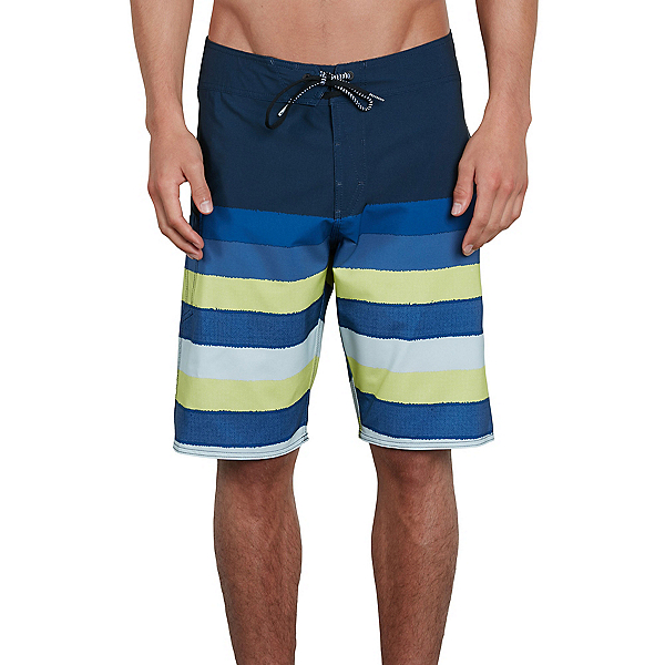 Volcom Lido Liney Mod Mens Board Shorts, Shadow Lime, 600