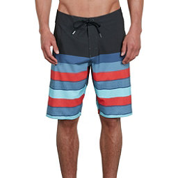Volcom Lido Liney Mod Mens Board Shorts, Wrecked Indigo, 256
