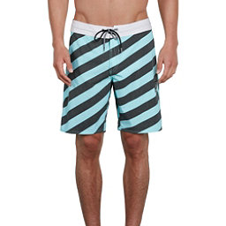 Volcom Stripey Stoney Mens Board Shorts, Pale Aqua, 256
