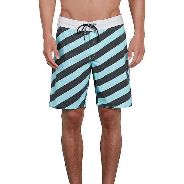 Volcom Stripey Stoney Mens Board Shorts, Pale Aqua, 600