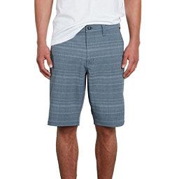 Volcom Frickin Surf N Turf Mix Mens Hybrid Shorts, Service Blue, 256