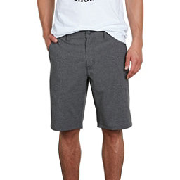 Volcom Frickin Surf N Turf Static Mens Hybrid Shorts, Charcoal Heather, 256