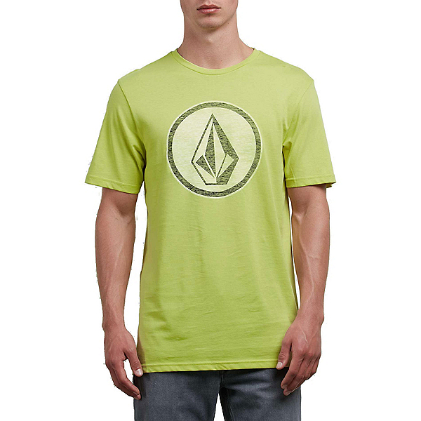 Volcom Classic Stone Mens T-Shirt, Shadow Lime, 600