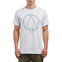 Volcom Pin Line Stone Mens T-Shirt, White, 256