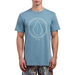 Volcom Pin Line Stone Mens T-Shirt, Wrecked Indigo, 256