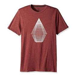 Volcom Digital Stone Mens T-Shirt, Crimson, 256