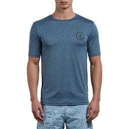 Volcom Lido Heather Short Sleeve Mens Rash Guard, Deep Blue, 256
