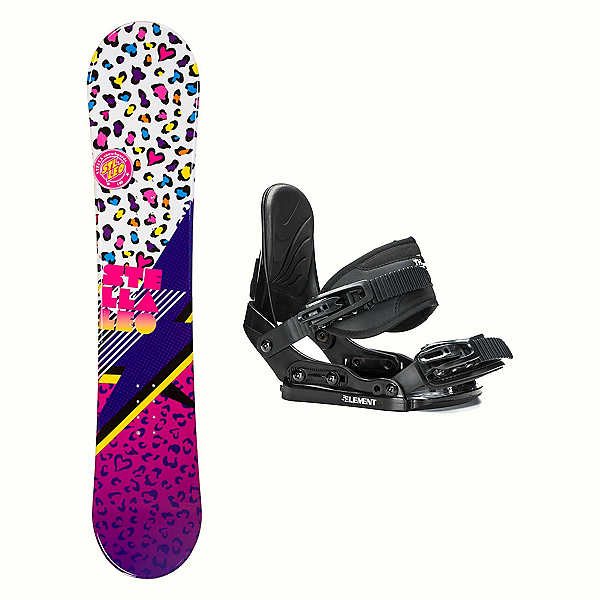 Stella Leo White Stealth Girls Snowboard and Binding Package 2018, , 600