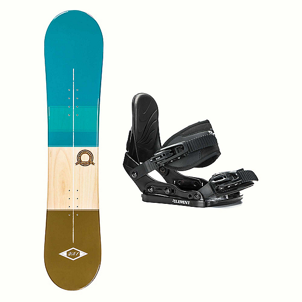 2B1 Classical Teal Stealth Girls Snowboard and Binding Package 2018, , 600