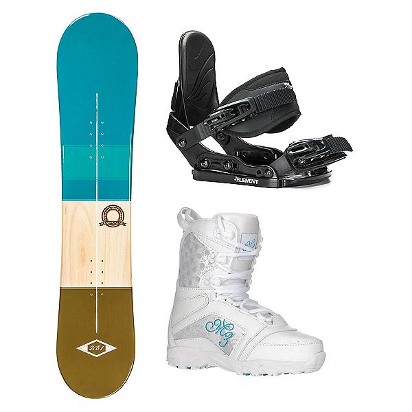 2B1 Classical Teal Venus Girls Complete Snowboard Package 2018, , 600
