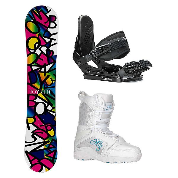 Joyride Letters Black Venus Girls Complete Snowboard Package, , 600