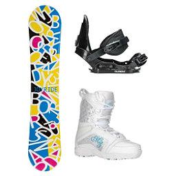 Joyride Letters White Venus Girls Complete Snowboard Package, , 256