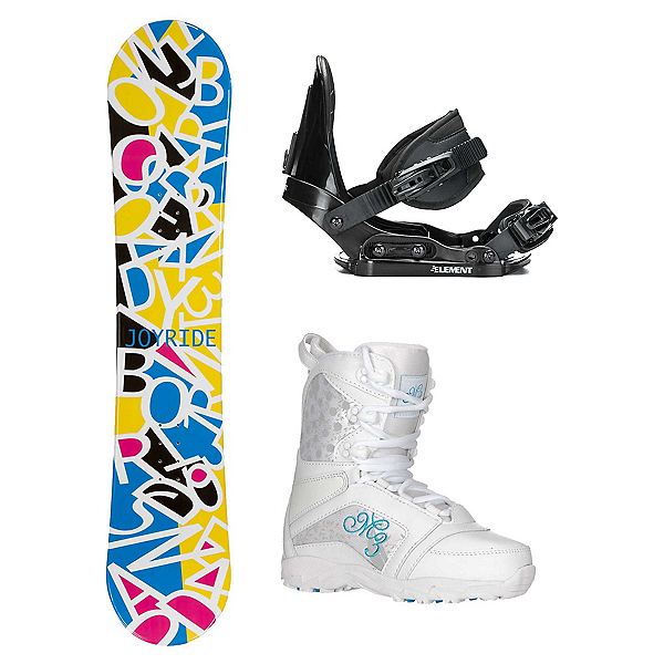Joyride Letters White Venus Girls Complete Snowboard Package, , 600