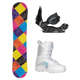 Joyride Paisley Venus Girls Complete Snowboard Package, , 256